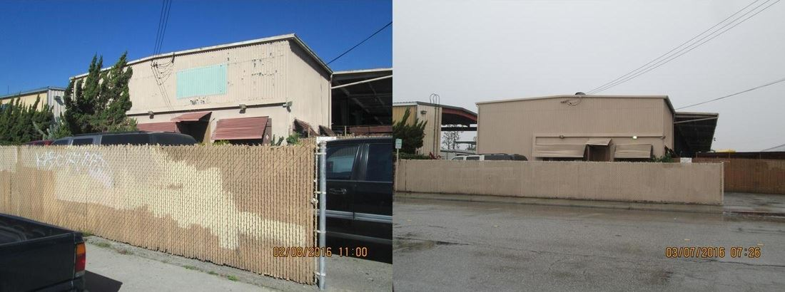 Building and Fence Before and After Code Enforcement