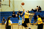 Youth Girls Playing Basketball